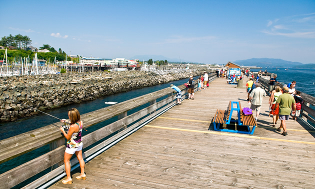 Campbell River's Discovery Fishing Pier located downtown.