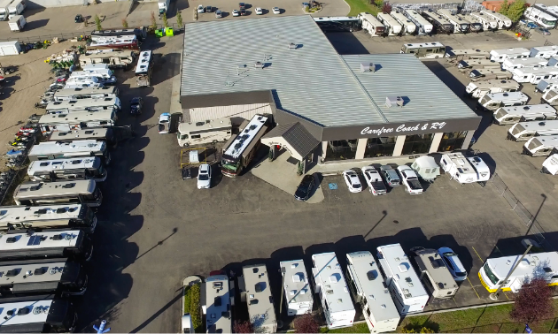 A birds eye view of Carefree RV