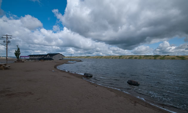 Little Manitou, just north of Watrous, Saskatchewan, is Canada's only salt water lake.