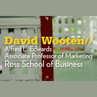 Ross School of Business Professor David Wooten