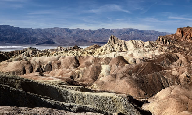 Zabrisky Point is the most visited viewpoint in Death Valley.
