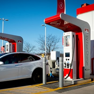 Petro-Canada EV fast charger located in Milton, ON.