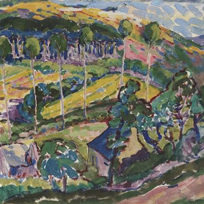 Emily Carr's Le Paysage (Brittany Landscape) painting.