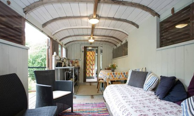 Renovated railway carriage in England