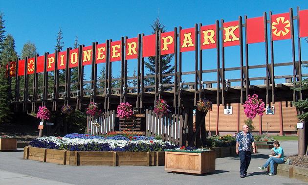 Pioneer Park Entrance.