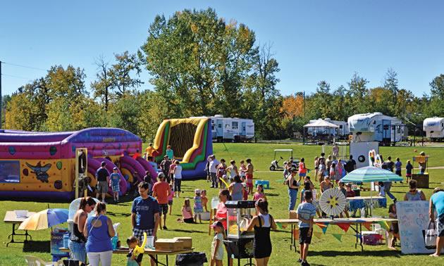 Making memories: Families enjoy a day of fun at Pine Lake campground.