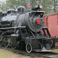 Fort Steele steam train.