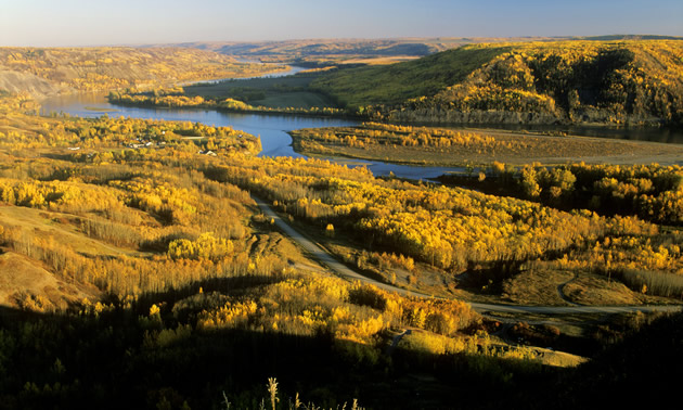 Peace River from above.