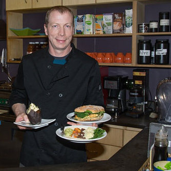Kevin Friesen, chef at Down to Earth Health Shop and Cafe in Fort Nelson, B.C.