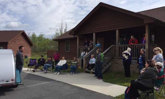 Chris Baum, CEO of Little Guy Worldwide, visited Blackwater Falls to host a Camper College event.