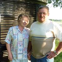 Marsha and Butch Golem RV door