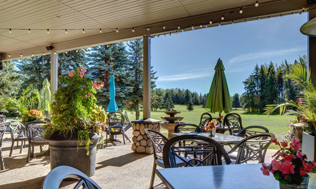 Another benefit of golf resort living is being close to the 19th hole. This view is from the 9-Iron Grill at Pineridge Golf Resort.