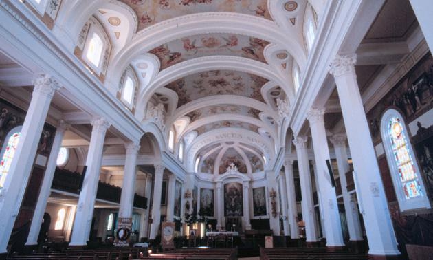 Interior Catholic Co-Cathedral in Gravelbourg Saskatchewan