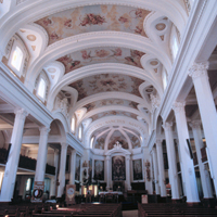 Interior Catholic Co-Cathedral in Gravelbourg Saskatchewan