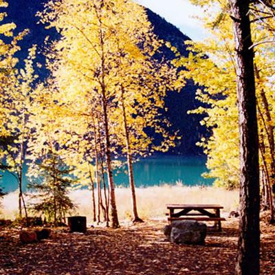 A beautiful site at BC Hydro's Gun Creek campground near Lillooet.