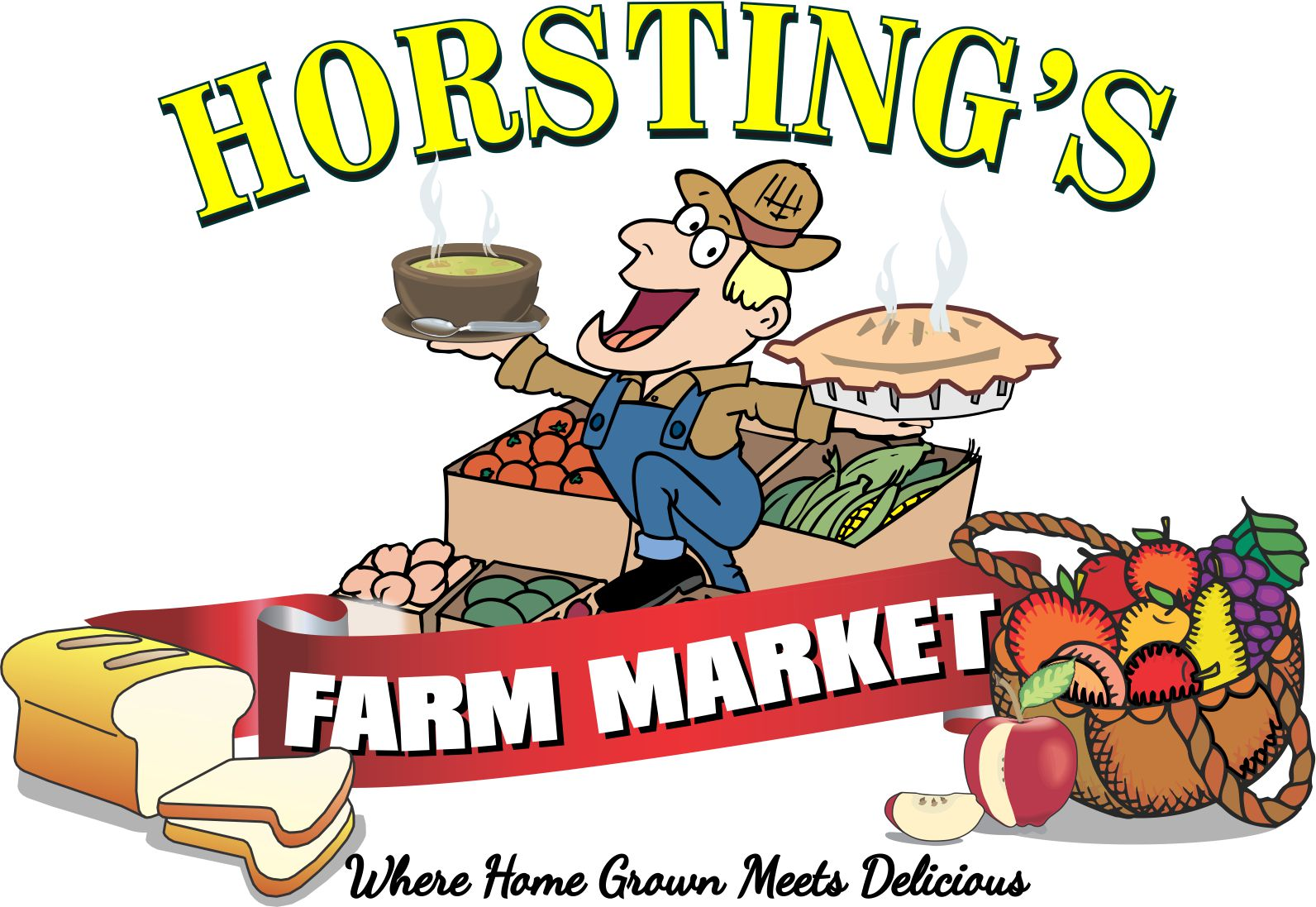 Horsting Farm Market logo.
