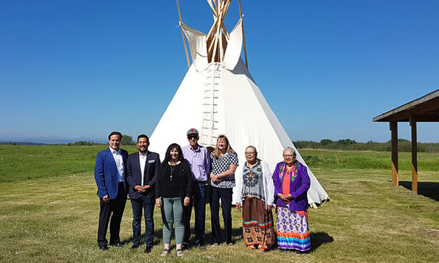 Indigenous tourism partners gather at the Tsuut'ina Nation Culture Museum to announce the formation of Indigenous Tourism Alberta.