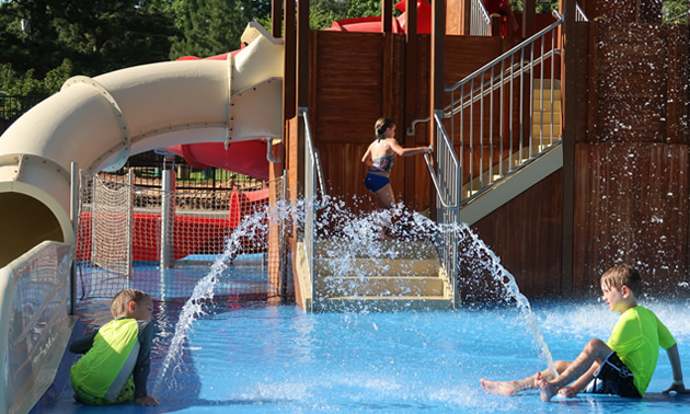 Picture of water park.