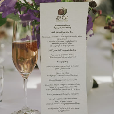 Joy Road's menus are a secret until just before dinner, partly because they are not set until the day before.