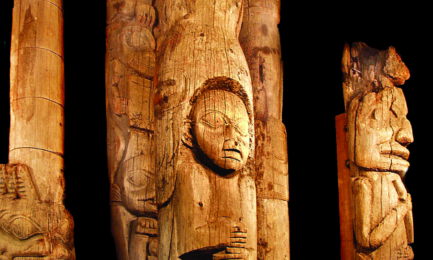The Totem Heritage Center has preserved relocated totem poles from Ketchikan and the surrounding area.