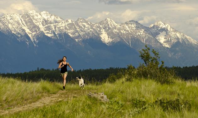 running through rocky mountain kimberley trails
