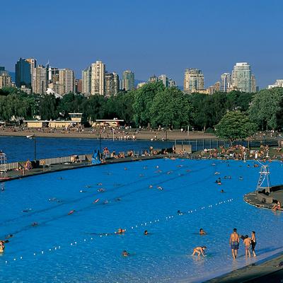 Tourists flock to Vancouver's beautiful, internationally renowned Kitsilano Beach.