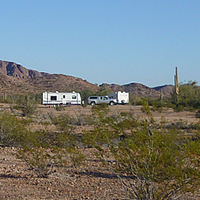 A scenic landscape in Kofa National Wildlife Refuge.