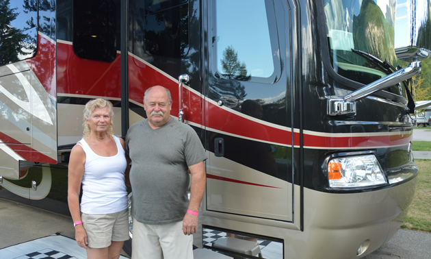 Lorraine and Larry Layden at Fairmont Hot Springs Resort RV Park