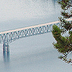 View of Lake Koocanusa Bridge, Eureka, Montana