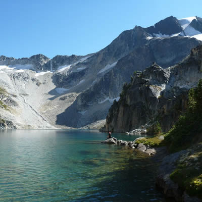 One of the many gorgeous lake vistas that surround Lillooet, B.C.
