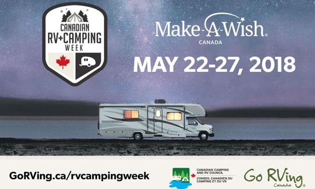 Make-A-Wish camping week graphic.