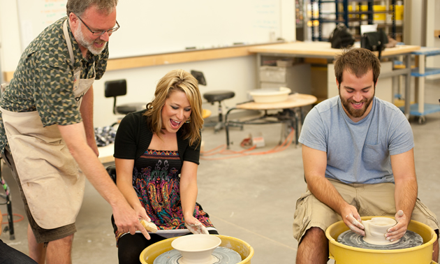 One of 14 art studios, the ceramics studio offers classes for all skill levels and ages at the Mesa Arts Center.