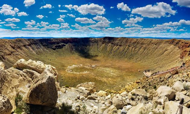 The meteor crater near Winslow, Arizona.