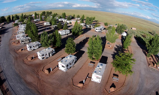 The Meteor Crater RV Park just 20 miles West of Winslow, Arizona.