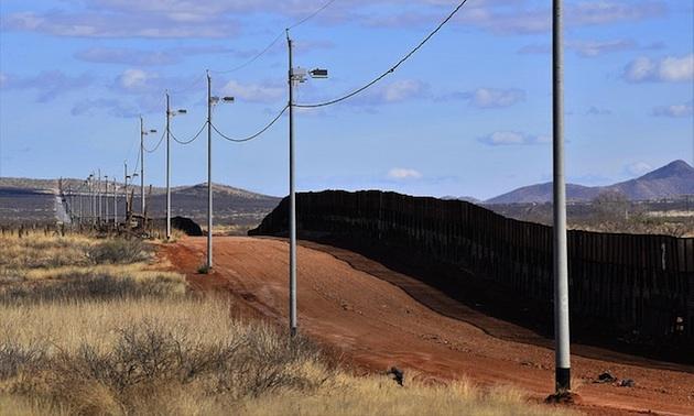 U.S. - Mexican border called 'The Wall' at Naco, Az