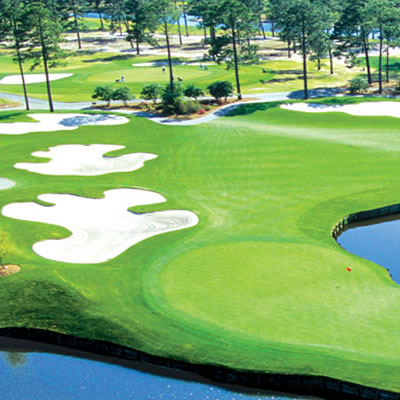 An aerial view of a Myrtle Beach golf course.