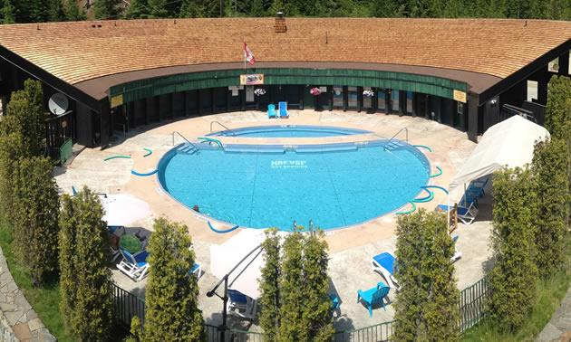 The pools at Nakusp Hot Springs.