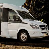 Redesigned Leisure Travel Van 25-foot Unity luxury touring coach