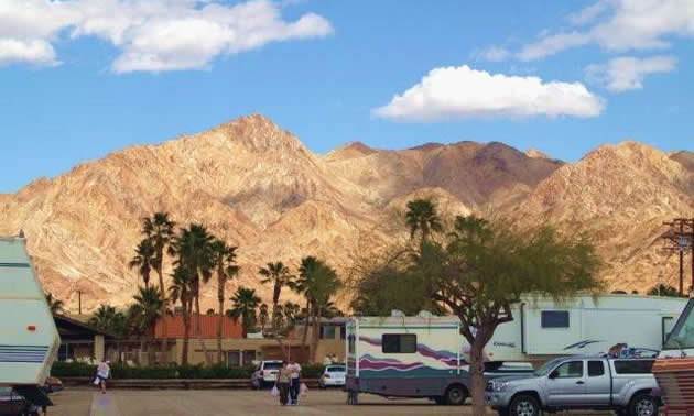 A view of Fountain of Youth RV Resort in Niland, California