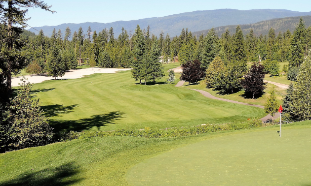 The third hole at Mabel Lake Golf & Country Club includes B.C.'s largest bunker.