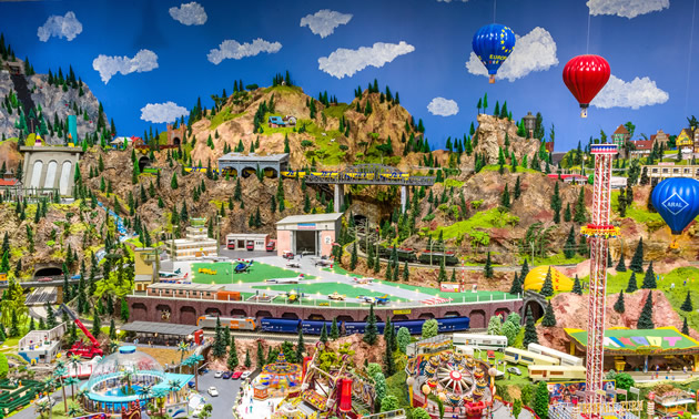 The Osoyoos Desert Model Railroad is a miniature wonderland  featuring thousands of tiny buildings, vehicles, people and animals.
