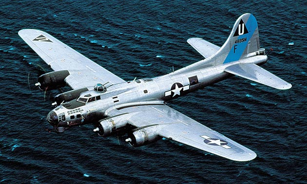 While in Mesa, Arizona, take a ride in this historic aircraft, a B-17G bomber.