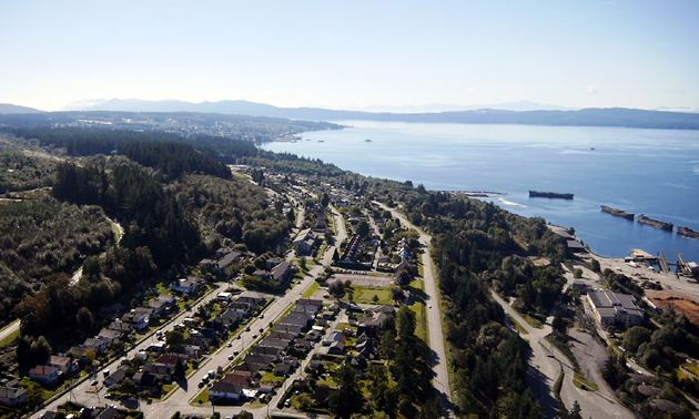 A view of Powell River from above