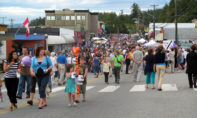 August's Blackberry Festival in Powell River.