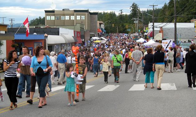 August's Blackberry Festival in Powell River.
