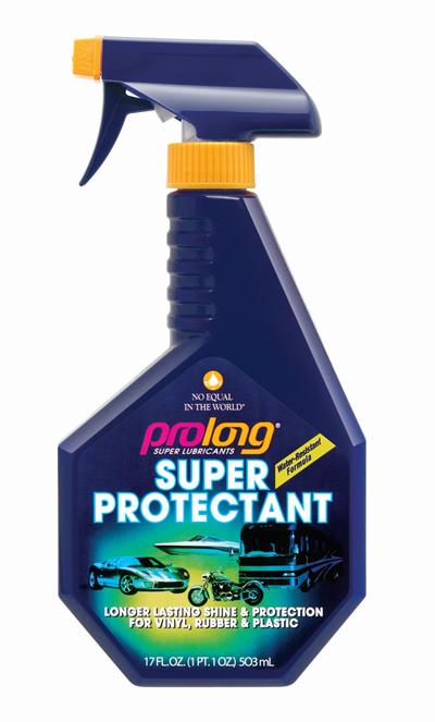 spray bottle labelled Prolong Super Protectant