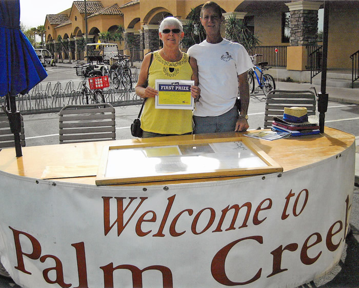 Donna Leslie and her husband, Ian, enjoyed their stay at Palm Creek Golf & RV Resort.