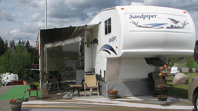 Picture of RV set-up for full-time living