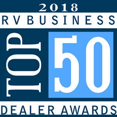 Top 50 Dealer Awards logo.