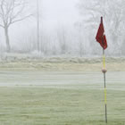 golf course in the winter